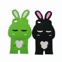 Wholesale Shy Rabbit Silicone Case for iPhone 4/4S in Stock, Various Colors are Available from china suppliers