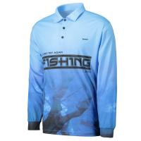 Wholesale Multi - Functional Fabric Sublimated Fishing Jerseys 3D Cutting Breathable Blue Color from china suppliers