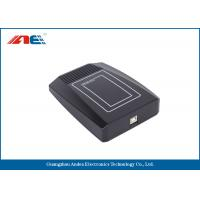 Wholesale Black RFID Mifare Card Reader USB , 7CM Reading Range IC Chip Card Reader Writer from china suppliers