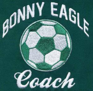 China Embroidery Digitizing Bonny Eagle Coach football sort design WBC11A04 services on sale