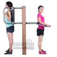 Wholesale outdoor fitness equipment park wood outdoor back stretching device from china suppliers