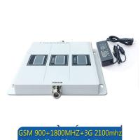 Wholesale GSM 900 WCDMA 2100 LTE 1800 Tri Band 2G 3G 4G Signal Booster mobile signal repeater from china suppliers