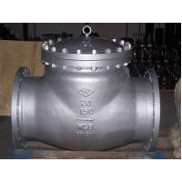 Wholesale High Performance API 598 Test, ANSI B16.10, A216 WCB swing check valve ISO&CE certificate from china suppliers