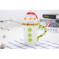 Wholesale Round Holiday 301CC 10 Ounce Christmas Ceramic Mugs from china suppliers