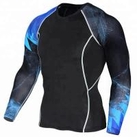 Wholesale Moisture Wicking Personalised Rash Vest UPF 50+ Sun Protection High Performance from china suppliers