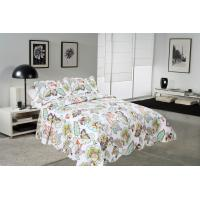 Wholesale Big Cockscomb Flower Quilted Bed Covers , Full Size Bed Quilt Sets With ISO9001 Certification from china suppliers