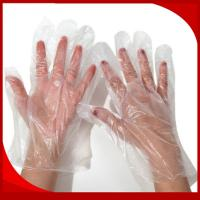 Wholesale Waterproof CPE Disposable Plastic Gloves , Embossed Disposable Kitchen Gloves from china suppliers