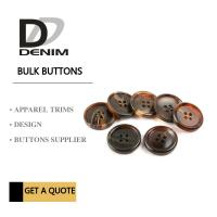 Wholesale Shiny Matt Black Brown Bulk ing Buttons Sourcing 4 Holes With Pattern Design from china suppliers