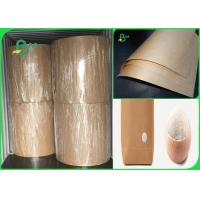 Buy cheap 80gsm good breakage resistance high strength brown kraft paper for bags from wholesalers