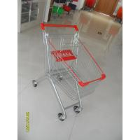 Wholesale Q195 Supermarket Push Cart 60L Capacity Small Shopping Trolley 750x461x935mm from china suppliers