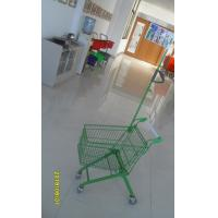 Wholesale Carbon Steel Play Shopping Cart Flag Logo Pole 465 x 330 x 686mm For Children from china suppliers