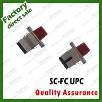 Wholesale metal sc-fc/upc adapter simplex fiber Optic coupler for fiber optical patch cords hybrid sc fc st lc all types from china suppliers