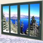 Wholesale Aluminum Double Sliding Glazed Doors / Tea Glass Double Slider Patio Doors from china suppliers