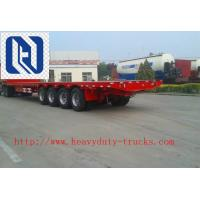 China CIMC 2pcs 16T FUWA Axles 20 Feet & 40 Feet Container Semi Trailer Flatbed With Triangle Brand Tire on sale