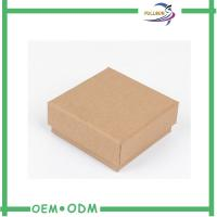 Kraft Paper Affordable Jewelry Boxes For Bracelets / Eco Friendly Gift Box Packaging