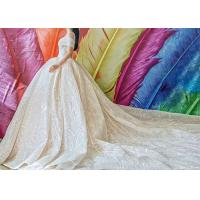 Wholesale Big Long Tail Bridal Gown Light Gold Beading Off Shoulder Sexy Ball Gown from china suppliers
