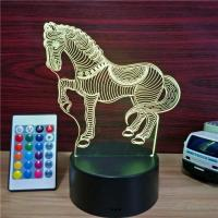 China HOT sales  Customized New Design Led Light 3D Illusion Table Lamp with USB Cable on sale