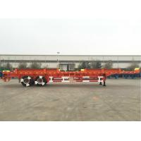 Wholesale CIMC Truck Dual Axle Flatbed Trailer ABS System Axle For Port Yard from china suppliers