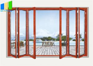 Wholesale Exterior Bifold Style Balcony Sliding Folding Glass Partition Doors from china suppliers