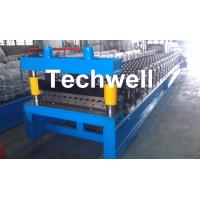 Wholesale Corrugated Profile Roll Forming Machine , Corrugated Sheet Making Machine With PLC Control System from china suppliers