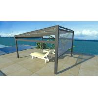 China Outdoor Waterproof Retractable Shade Awning Aluminium Side Screen Pation Pergola on sale