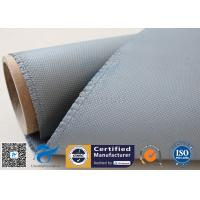 Quality 1050gsm silicone coated fiberglass cloth For Railway Engine Sparks Protection for sale