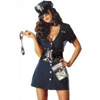 Wholesale Halloween Corrupt Cop Adult Princess Costume Sexy Police Officer Swat from china suppliers