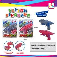 Wholesale Flying dinosaur with toy candy , compress candy or jelly beans from china suppliers