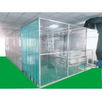 China ISO7 Softwall Clean Booth with anti-static PVC curtain materials on the main body,easy for installation on sale