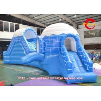 0.5mm PVC Inflatable Water Slides The Children's Park Ice Kingdom Manufactures
