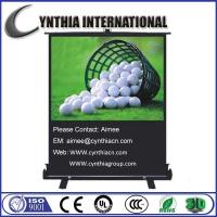 Wholesale Cynthia Screen 100 inch 4:3 HD 3D Floor Stand Projector Screen Portable Projector Screens from china suppliers