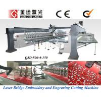 China Laser Bridge System Embroidery Machinery on sale