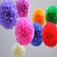 Wholesale Colorful paper pom pom,paper flower for party decorate from china suppliers