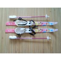 Crosscountry ski sets with rubber plastic ski bindings, ski poles