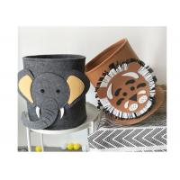 China Washable Lion Pattern Felt Storage Boxes Easy Using With EN71 Certification on sale