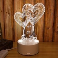Buy cheap The Interest Cartoon design Acrylic 3D LED  Night  Light for Gift , OEM Decoration LED Light in many colors from wholesalers