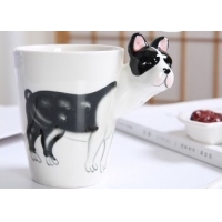 Wholesale Gift 15 Onuce Cartoon Bulldog Ceramic Drinking Cups from china suppliers