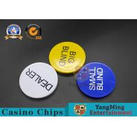 Wholesale Texas Hold ' Em Code Size Big Or Small Blind Size 50*6mm Customizable Logo from china suppliers