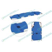 China Safety two folded aluminum alloy Ambulance stretcher with belts / first aid stretchers on sale