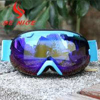 Mirror Coating Anti Fog OTG Ski Goggles With Two Way Venting For Clear Vision