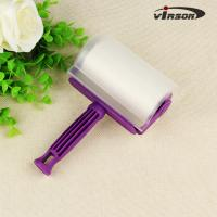 China Sticky Vertical Purple Washable Disposable Plastic Lint Roller on sale