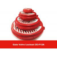 Wholesale New Standard ABS  2.5'' - 5'' Red Gate Valve Lockout , Safety LOTO Equipment from china suppliers