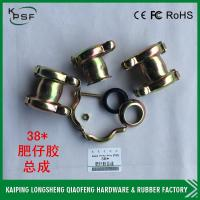 Hydraulic fit coupling rubber hose clamp excavator pipe