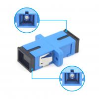 Wholesale FTTH Fiber Connection UPC / SC Simplex Adapter Fire Resistant Plastic Material Green Color from china suppliers