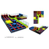 Wholesale Amazing Colorful 728M2 Big Indoor Trampoline Park Equipment with Dodge Ball from china suppliers