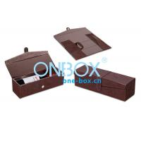 Wholesale Foldable Leather Wine Packaging Boxes Display With Magnet Closure from china suppliers
