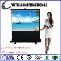 Wholesale Cynthia Screen HD 3D Floor Scissor Pull Up Projection Screens Portable Projector Screen from china suppliers