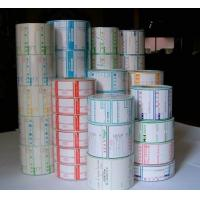 China Super market custom thermal paper label color label with Self-adhesive on sale