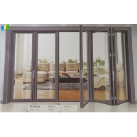 Wholesale French Interior European Aluminium Folding Doors For Homes Exterior Glass Folding Door from china suppliers