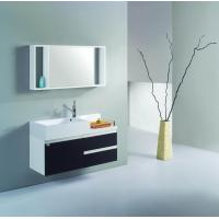 Buy cheap White and black PVC/MDF hanging/floating/wall-mounted bathroom vanity/bathroom from wholesalers